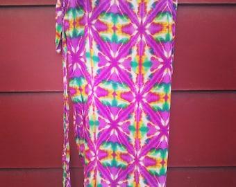 Vintage pink Wrap skirt, Wrap Skirt, Summer Wrap Skirt,