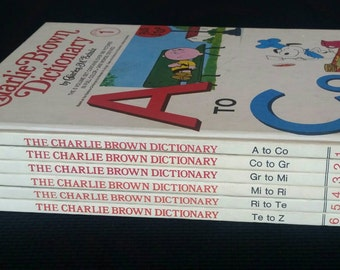 Charlie Brown dictionary complete set of six first edition 1973
