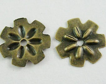 10mm Flowers Spacer Bead x100