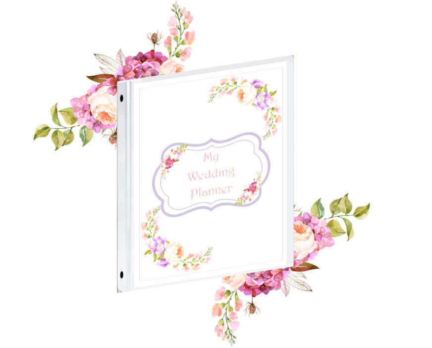 Printable Wedding Planner Binder Planning A Rustic: Binder Cover Printable Wedding Planner Binder Cover Front