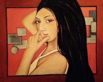 Giavonna Giclee print of oil painting on 11X14 canvas