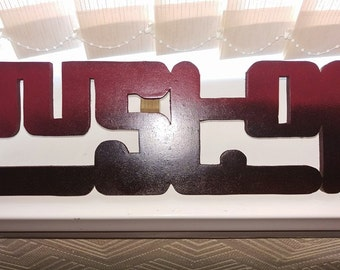 handcut custom signs on 18mm mdf board