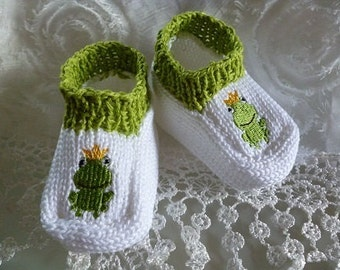 "Baby shoes ""Frog King"""