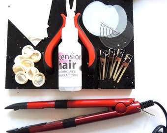 Pre Bonded Hot Fusion Hair Extension kit and training guide
