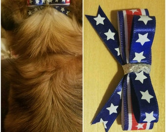 Dog 4th of July bow