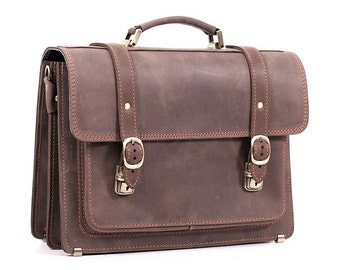 Leather briefcase, male, female