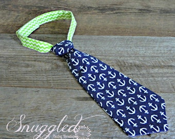 Navy Anchor Tie for Toddlers