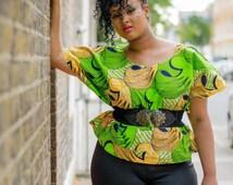 African Crop Top