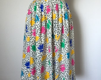 Vintage 80's Midi Skirt with hip pockets