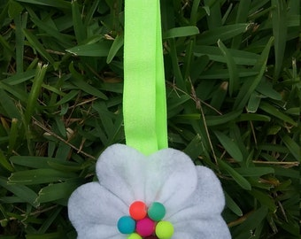 White Flower Elastic Headband
