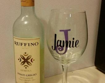 21oz personalized wine glass