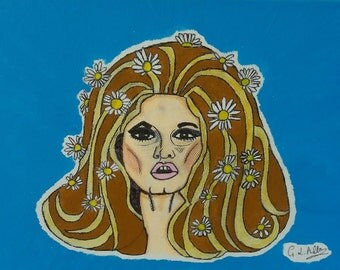 Brigitte Bardot Painting