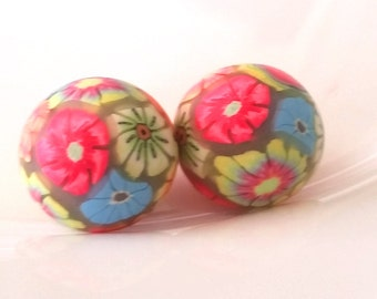 Polymer clay beads mixed bag