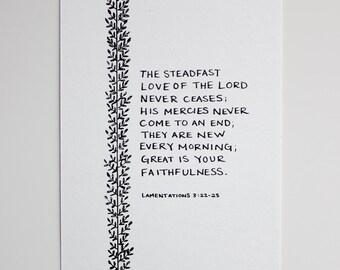 The Steadfast Love - Original 4x6 artwork