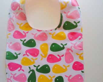 One Whale print with Minky back.