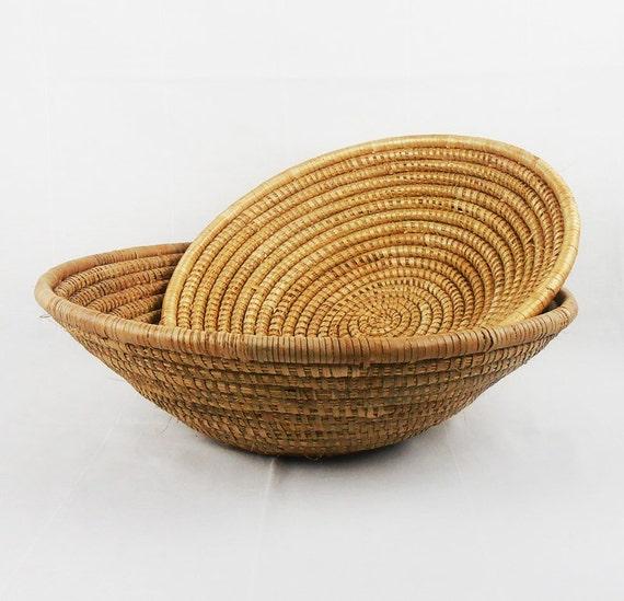 African Woven Baskets: African Baskets / Tribal African Bowl / Wedding Centerpiece