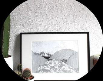 A4| Original pen drawing