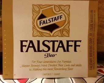 FALSTAFF beer labels
