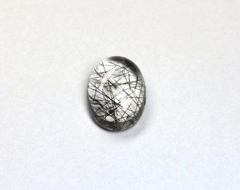17.99cts Quartz Cabochon Rutilated Quartz Cab Rutile Black And White Oval Shape 19.91x14.97mm Jewelry Making Jewelry Supplies Gemstone