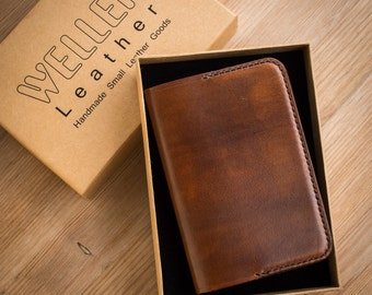 Leather Passport Cover, Leather UK Passport Cover, Sleeve, Wallet in Brown