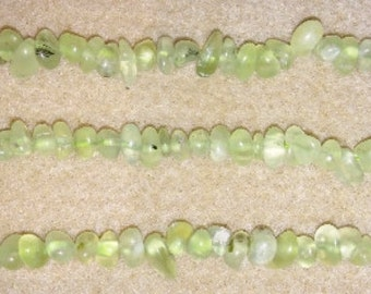 Prehnite chip beads green chip beads green stone beads green beads stone beads chip beads
