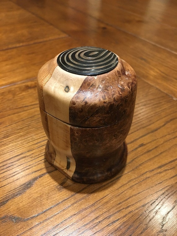 Small Mixed Burr Wood Pot