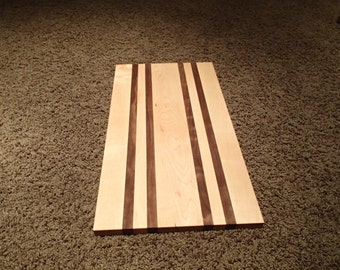 Cutting Board, Cheese Board, Serving Platter, Maple and Walnut