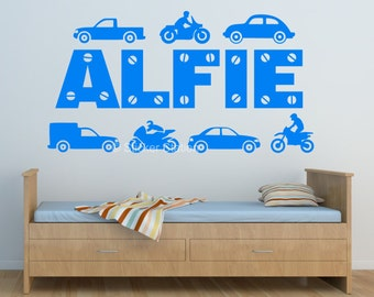 Traffic Jam Personalised Wall Art Sticker