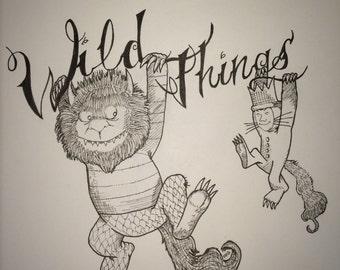 Wild things print
