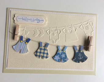 Welcome Baby Card - blue