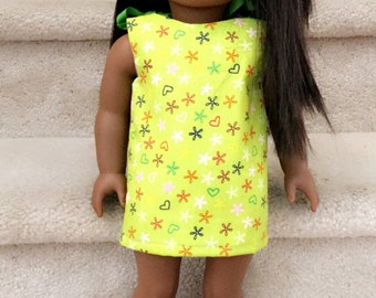 Geen dress- 18 inch doll dress
