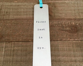 Bookmark-custom bookmark-handstamped bookmark-gift for reader-funny bookmark-metal bookmark-metal stamped bookmark-reader gift