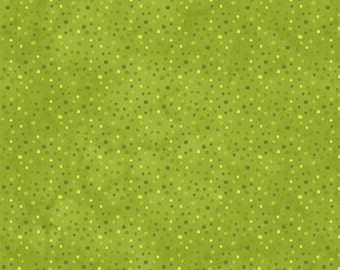 Essentials -green petite dot by Willmington Prints