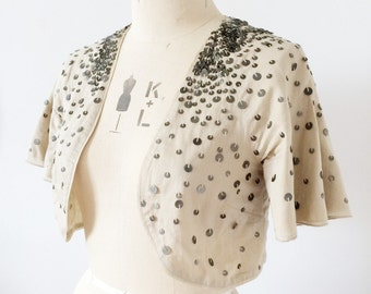 Vintage sequin bolero shrug