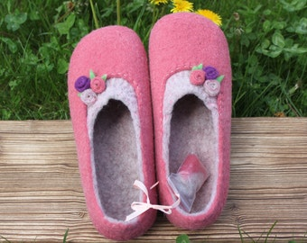 """Home Slippers """"Rose"""""""