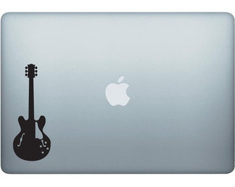 Blues Electric Guitar Decal - Made In The USA With High Quality Adhesive Vinyl In Many Different Colors