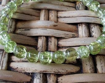 Shiny green little bracelet
