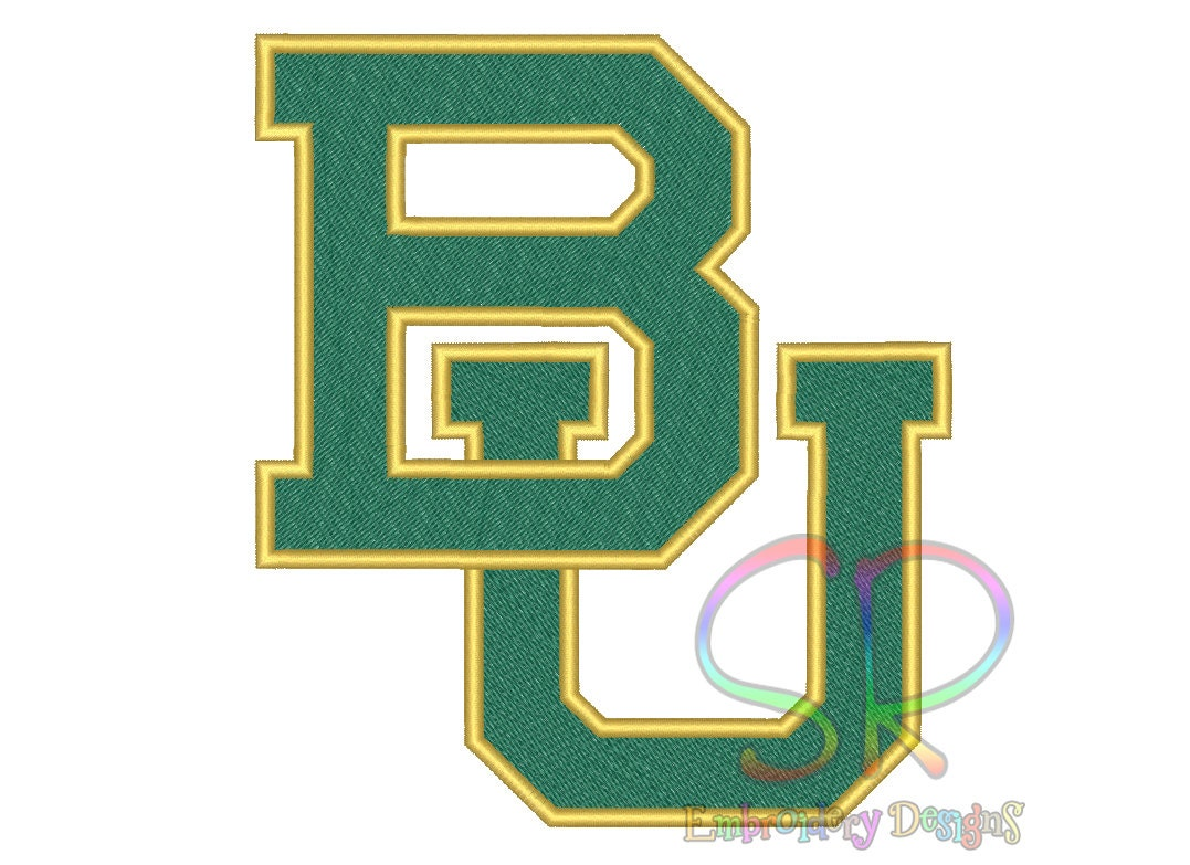 Size baylor bears embroidery designs college football logo