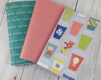 Notebook, Lined Paper Notebook,  Set of Notebooks, Mini Notebooks, Mini Journal, Journal Set, Notebook Set N010