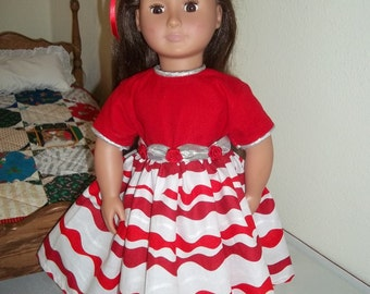 Party dress for 18-inch doll.