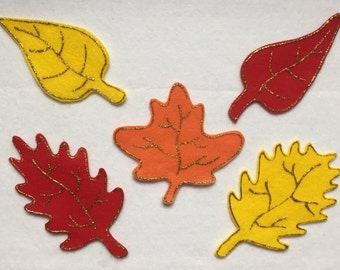 Five Fall Leaves