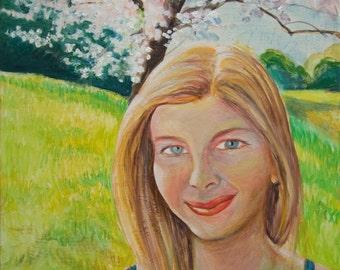 Custom Portrait - Cherry Tree