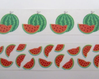 Cute kawaii kitsch washi sticky masking deco tape fruity watermelons