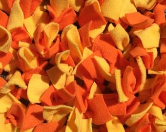 Yellow and orange snuffle mat