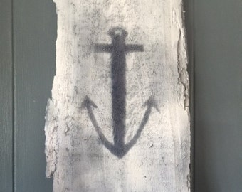 painted wood anchor