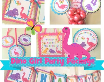 Dino Girl Party Package