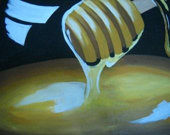 Honey dripping painting
