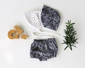 Baby Bloomers in Black Floral