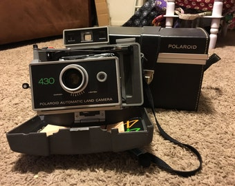 Polaroid 430 Land Camera with Case