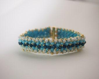 Crystal Studded Bracelet in blue